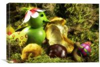 Snail Tilly & bird Pipo , Canvas Print