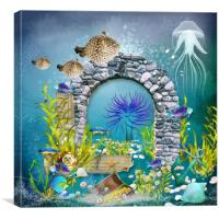 Underwater world 1 , Canvas Print