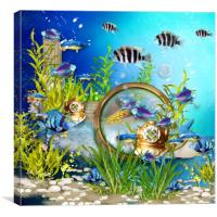 Underwater world 2, Canvas Print