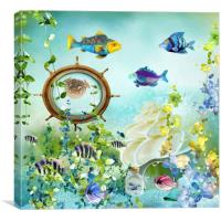 Underwater world 3, Canvas Print