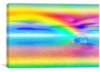 Rainbow happiness , Canvas Print