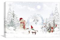 Christmas fairy tale, Canvas Print