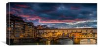 Ponte Vecchio Sunset, Canvas Print