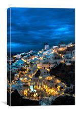 Santorini Night's, Canvas Print