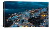 Blue Santorini, Canvas Print