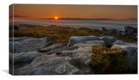 Barrow Stones Sunset, Canvas Print