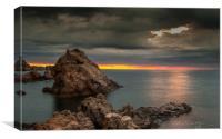 Tossa de mar Sunrise, Canvas Print