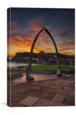 Whitby Whale Bones, Canvas Print