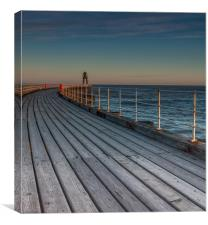 Whitby Pier 2, Canvas Print