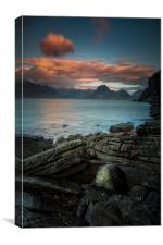 Elgol and the Black Cuillins, Canvas Print