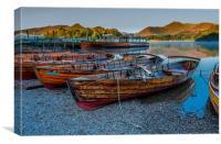 Derwent Boats, Canvas Print