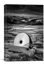 Stanage Edge Millstones #4, Canvas Print