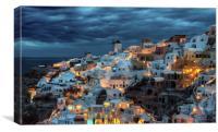 Oia Santorini, Canvas Print