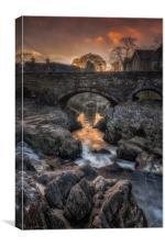 Pont y Pair Bridge, Canvas Print