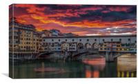 Ponte Vecchio Sunset, Canvas Print