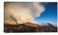 Snowstorm, Sligachan glen., Canvas Print