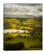 Ullswater fields., Canvas Print