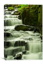 Lumsdale Falls Cascade, Canvas Print