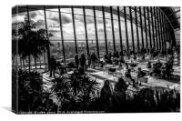 Tea time at Sky garden, Canvas Print