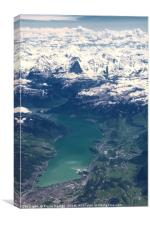 Eiger North Face and Lake Thun, Canvas Print