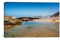 Praia de Castelejo, Algarve, Canvas Print