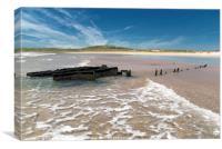 The Wreck, Machir Bay, Islay, Canvas Print