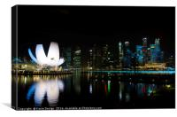 The Lotus at Night, Singapore, Canvas Print