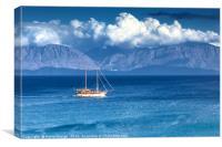 Crossing Mirabello Bay, Canvas Print