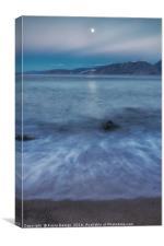 Moonlight over Mirabello Bay, Canvas Print