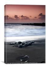 Black Rock Sunset, La Arena, Tenerife, Canvas Print