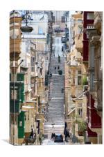 Old Town Scene, Valetta, Malta, Canvas Print