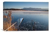Dusk Light on Frozen Lake Rieg, Canvas Print