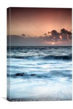 Sunset Beach, La Arena, Tenerife, Canvas Print