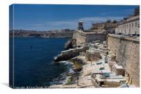 Small Harbour near St. Elmo Fort, Valletta, Canvas Print