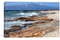 Chrissi Island - Rugged Shoreline, Canvas Print