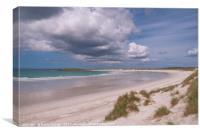 North Uist: Sunshine over Tràigh Iar (West Beach) , Canvas Print