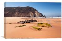 Praia do castelejo Algarve, Canvas Print