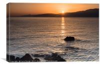 Sunrise over Mirabello Bay, Canvas Print