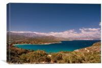 Crete: View across Mirabello Bay to Agios Nikolaos, Canvas Print