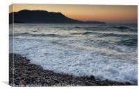 Sunset at Kissamos, Canvas Print