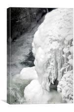 Frozen Gorge, Canvas Print