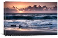 La Arena Beach Sunset, Canvas Print