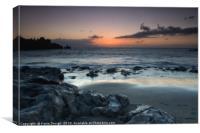 La Arena Beach Sunset over the Lava Rocks, Canvas Print