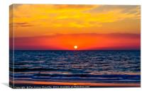 Clear Sunset, Canvas Print