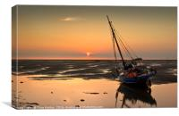 Sunset at Meols, Canvas Print