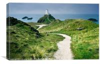 The Lighthouse on Llanddwyn Island, Canvas Print