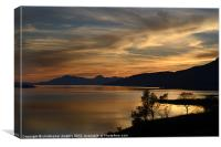 Sunset at Strathcarron, Canvas Print