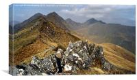 On the ridge of the Five Sisters , Canvas Print