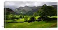 Rain clouds over the Langdale Pikes