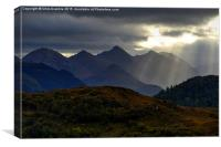 Sunrays over the Five Sisters, Canvas Print